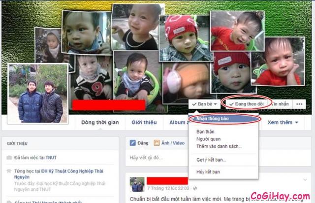 chặn status facebook của người khác