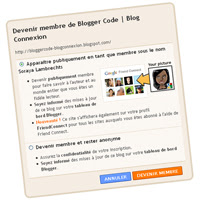 Lien pop-up: Devenir membre de ce blog