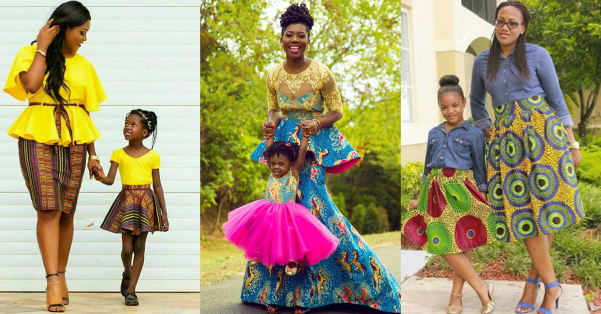 THE ENVIABLE ANKARA LADIES STYLES YOU SHOULD STEAL FROM MUM AND DAUGHTER IN 2018 1
