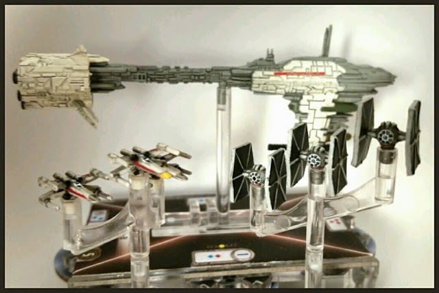 cazas pintados por Xela de Star Wars Armada