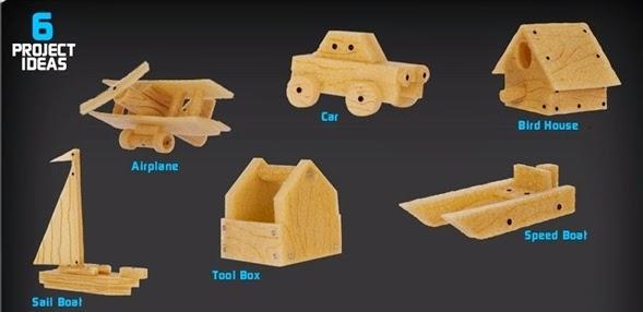 Bộ đồ chơi thợ mộc cơ bản Real Construction Starter Workshop