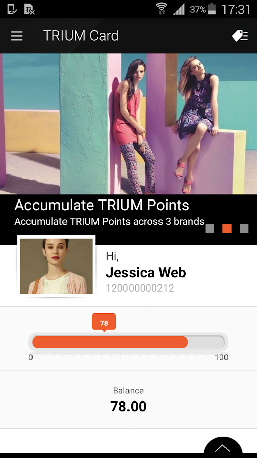 TRIUM Card- screenshot