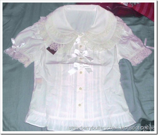 Bodyline blouse l015 before a little alteration.  It's a decent blouse for those into lolita fashion, with a couple of changes.