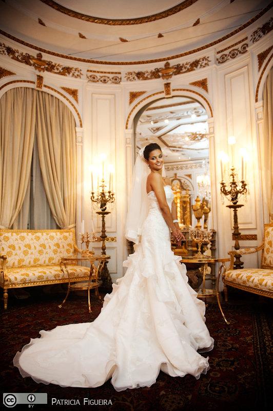 Foto de casamento 0325 de Daniele e Kenneth. Marcações: 24/07/2010, Casamento Daniele e Kenneth, Fotos de Vestido, La Novia, Rio de Janeiro, Vestido, Vestido de Noiva.