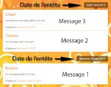 Messages regroupés par date