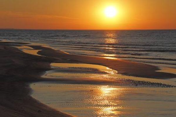 37497405-ripples-on-lake-huron-beach-at-sunset-ontario-canada