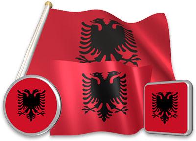 Albanian flag animated gif collection