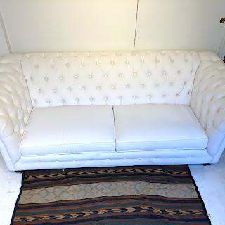 Ethan Allen 7' Chesterfield Sofa