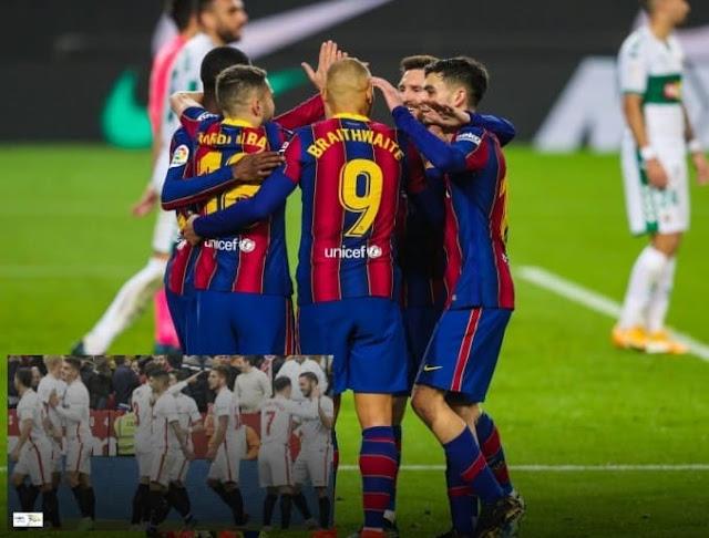 تشكيل مباراة إشبيلية المرتقبة ضد برشلونة