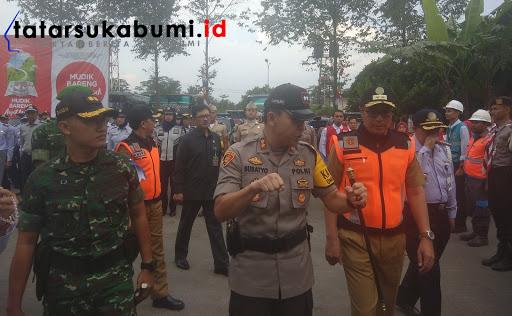 Gelar Pasukan Jelang Lebaran, One Way Jakarta Satu Arah Seluruh Kendaraan Masuk Sukabumi