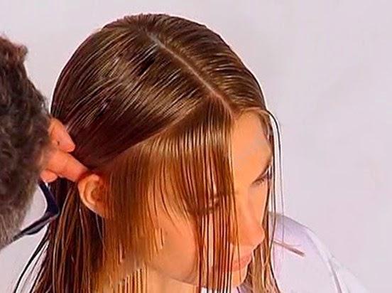 Day cat toc nu co ban huong dan cat toc mai 2 Dạy cắt tóc nữ cơ bản, Kiểu tóc ngang chúi tầng thấp
