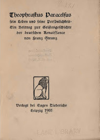 Cover of Franz Strunz's Book Theophrastus Paracelsus (in German)
