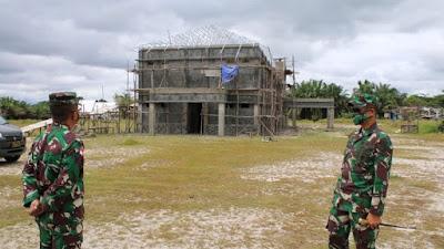 Pangdam XII/Tpr Tinjau Pembangunan Kodim Landak