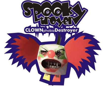 Spooky Clown Paper Toy
