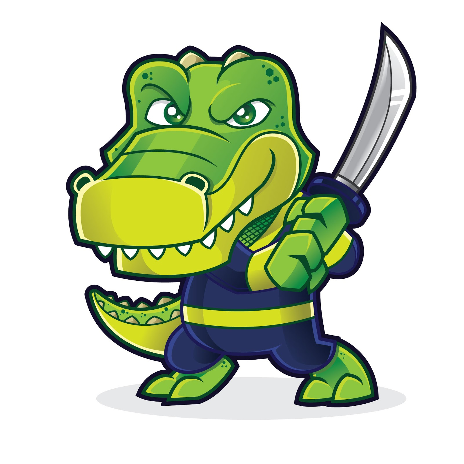 Gator Warrior Free Download Vector CDR, AI, EPS and PNG Formats