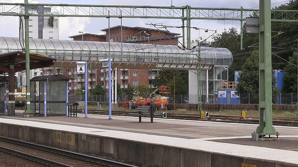 Arbetet börjar från andra sidan stationen