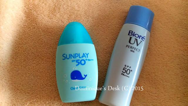 Sunplay and Biore Sunscreen