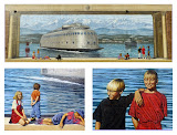"""Children in the Kalakala Mural"" by Robin Prentice -- 1st Place Special B"