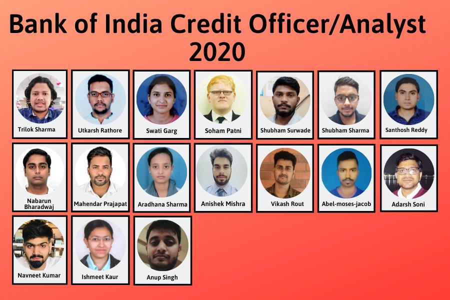 BOI Credit Officer/Analyst 2020