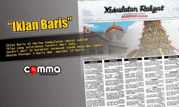 Comma advertising biro jasa pasang iklan koran