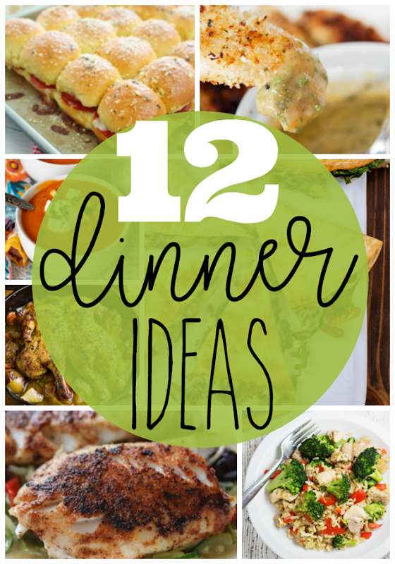 12 Dinner Ideas at GingerSnapCrafts.com #dinner #recipes #recipeoftheday