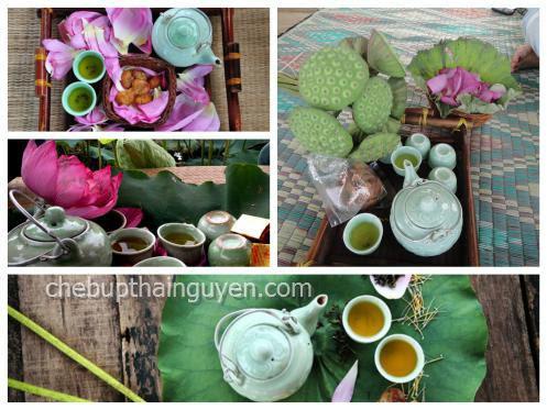 trà sen hà thành nổi tiếng gần xa