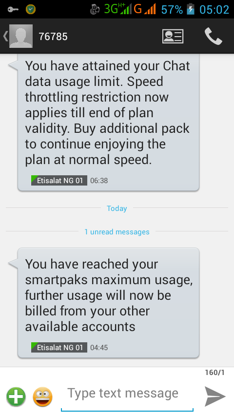 SAD: Etisalat Social Me and Chat pack is now Data Capped