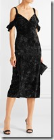 Rachel Zoe off the shoulder velvet dress