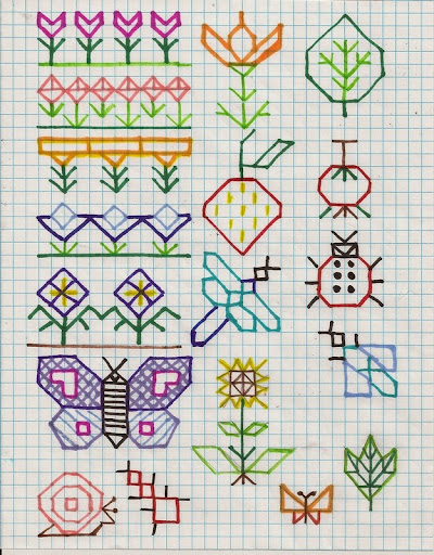 "Holbein embroidery ""doodles"""