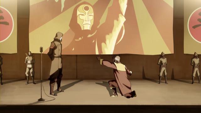 Amon bending Avatar Korra