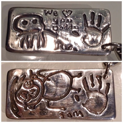Maria Made It childrens drawings recreated in a silver charm