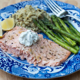 Creamy Garlic Butter Sauce For Fish Recipes.