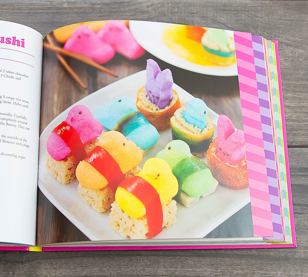 photo of the peeps sushi in the cookbook