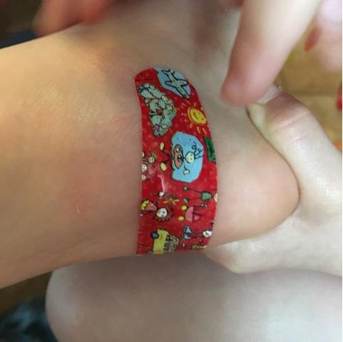 Verletzung durch Legostein