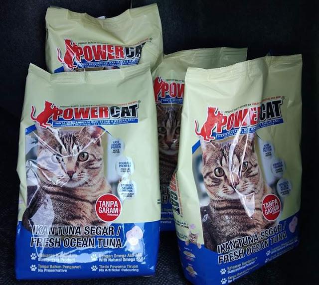 Sokong Power Cat Produk Makanan Kucing Keluaran Usahawan
