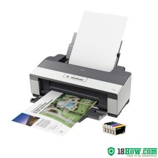 How to reset flashing lights for Epson B1110 printer