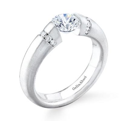 Tension Wedding Ring 11 Cool Tension Setting Ring Gelin