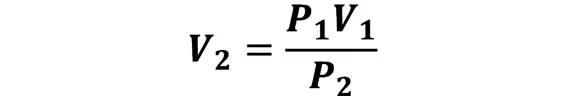 Las leyes de los gases: de boyle, de Charles, de Gay Lussac, de Avogadro y de Dalton - Despeje de la ley de Boyle en caso de que se conozca P1, V1 y P2; pero se desconoce V2 - sdce.es - sitio de consulta escolar