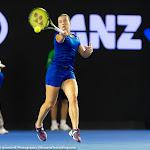 Anastasija Sevastova in action at the 2016 Australian Open