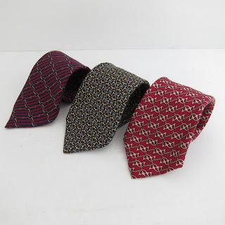 Hermès Horse Bit Silk Tie Trio
