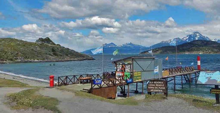 Postamt NP Tierra del Fuego Zaratiegui Bucht am Beagle Kanal