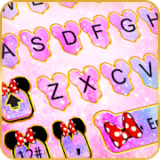 Pink Galaxy Minny Keyboard Theme