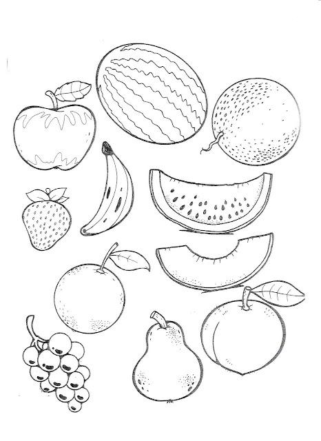 Frutas En Inglés Para Niños Para Colorear Imagui