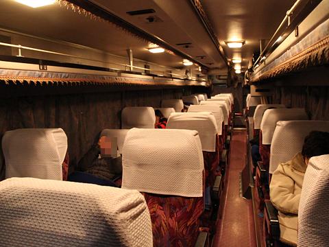 西鉄高速バス「桜島号」夜行便 3802 車内