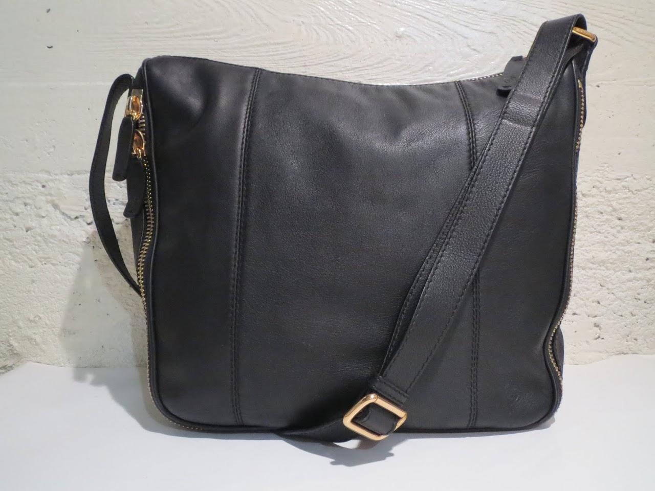 Giorgio Armani Black and Gold Shoulder Bag