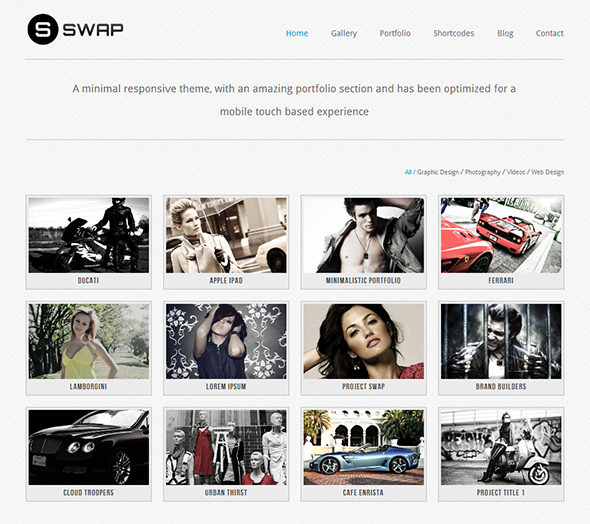 Swap Grid-Based Portfolio Theme with Responsive Layout