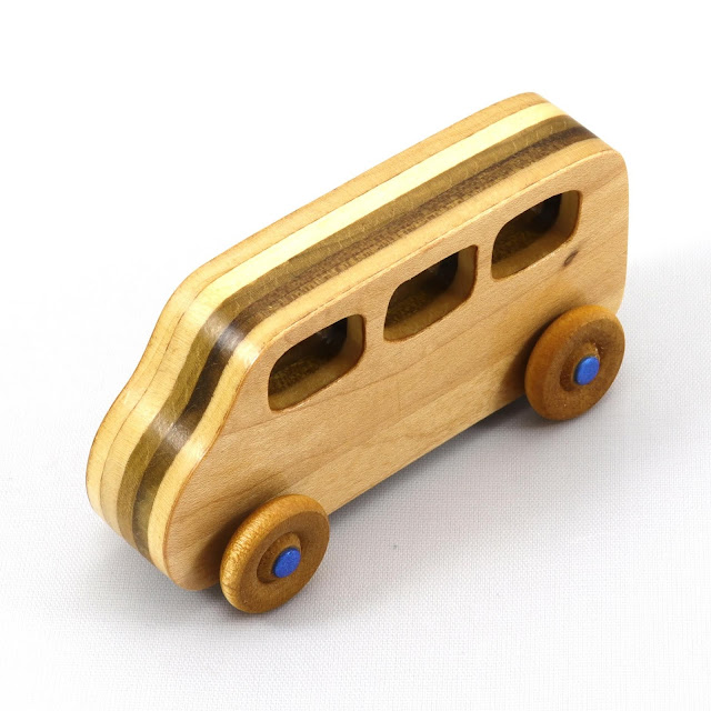 Handmade Wooden Toy Car, Minivan, Bus, from the Play Pal Series 776992808