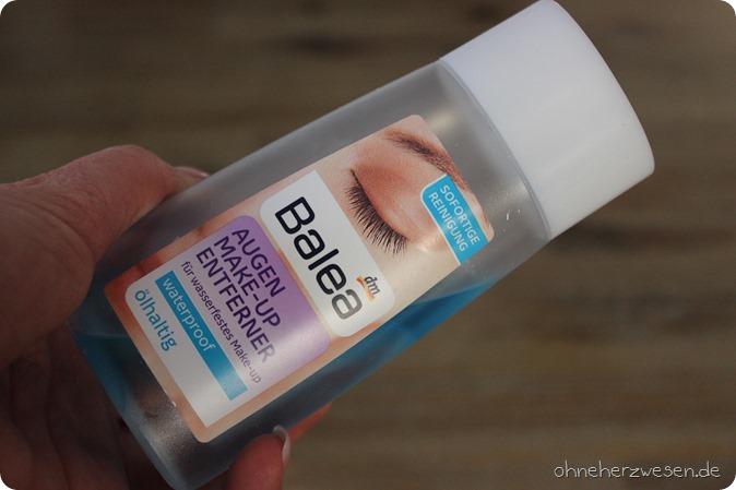 Balea Augen Make up Entferner Waterproof ölhaltig Review Test Bericht Testbericht dm Drogeriemarkt Make up Remover  abschminken sanft zur haut 1
