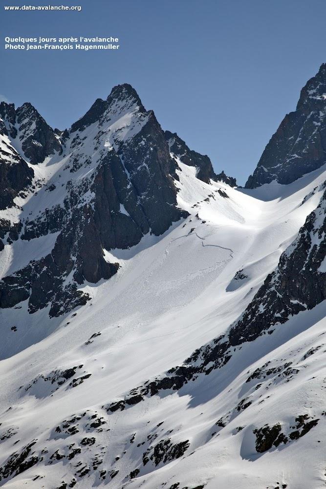 Avalanche Aiguilles Rouges, face Nord du col de l'Encrenaz - Photo 1 - © Mondon Gaël
