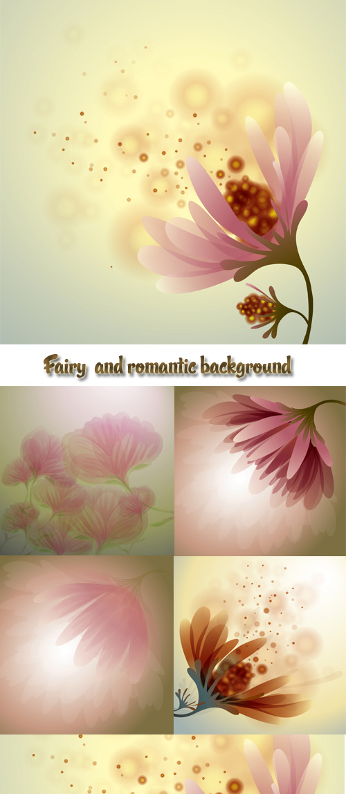Stock: Fairy  and romantic background
